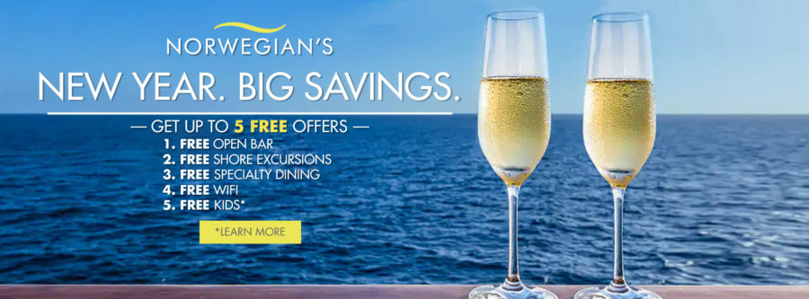 Norwegian's New Year. Big Savings. Sale. Choose up to 5 Free Offers. Terms and Conditions Apply. Click to learn more.